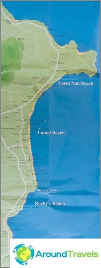 Lamai Beach kartta