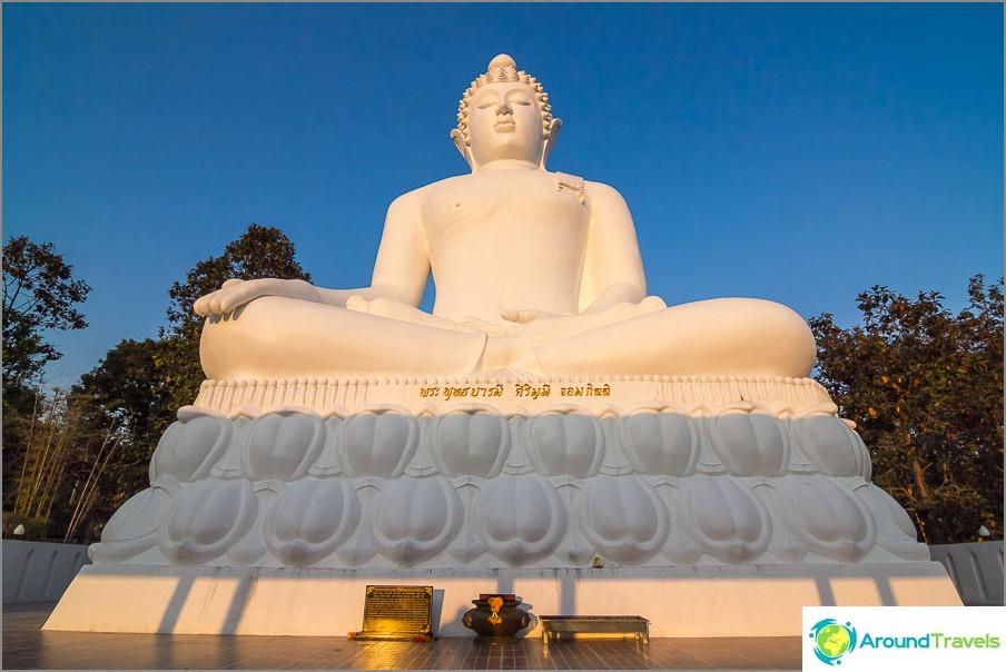 Auringonlaskun buddhanäkymä