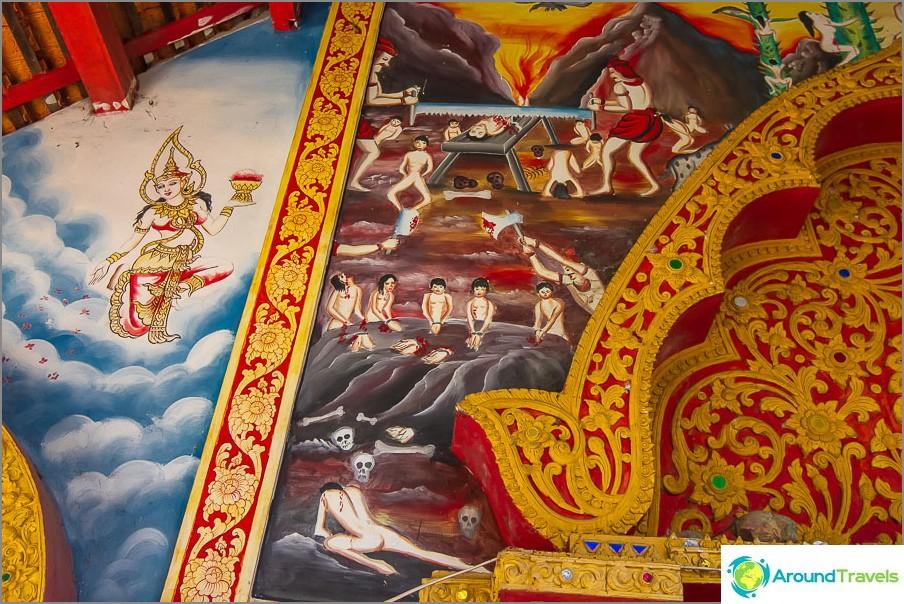 Verinen maalaus seinillä