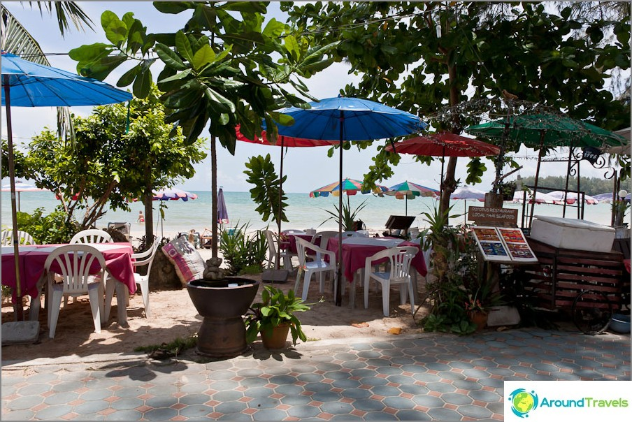 Kahvila rannalla