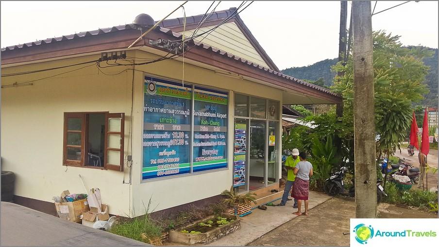 Linja-autoasema Koh Chang - todella vain yrityksen toimisto