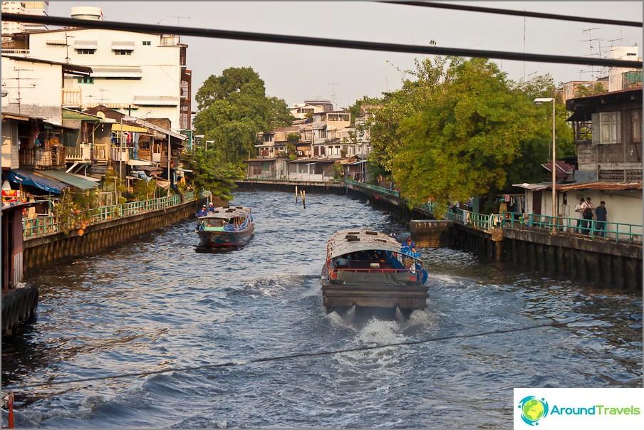 Joen kanava Wat Saketista Pratunamin alueelle