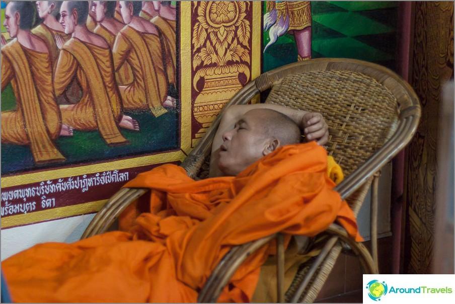 Nukkuu rauhallisesti munkki
