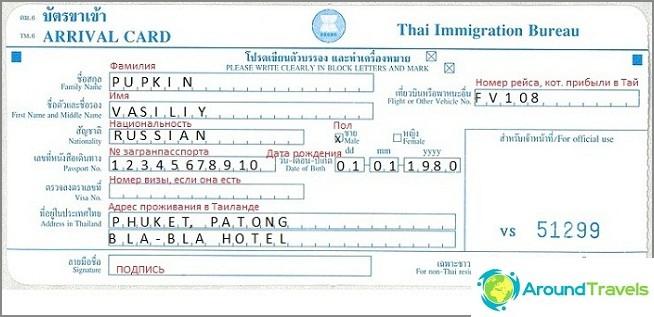 Thaimaan maahanmuuttokortti
