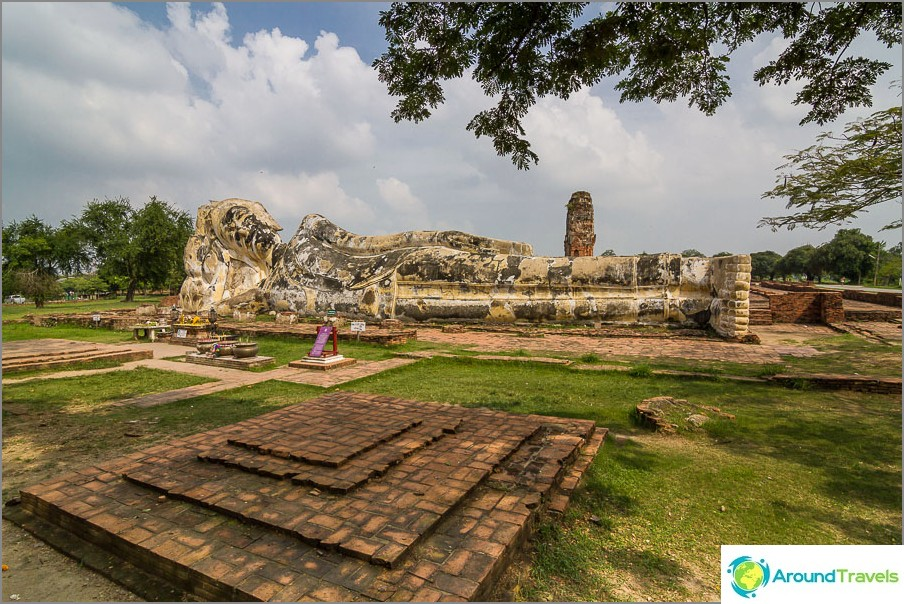 Wat Lokkayasutharam - lepotuoli Buddha