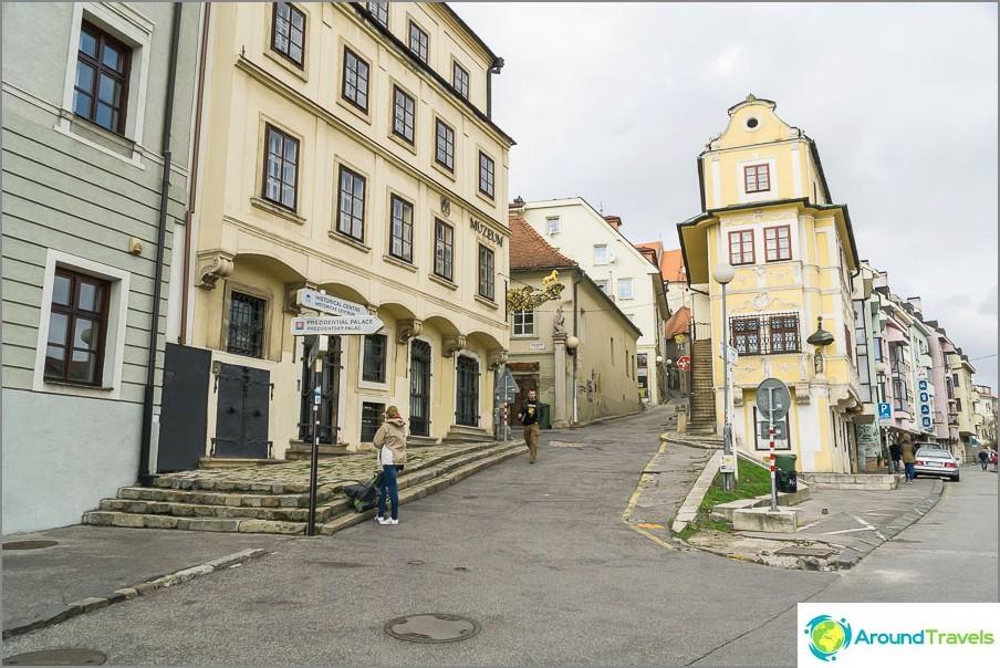 Улици на стария град на Братислава
