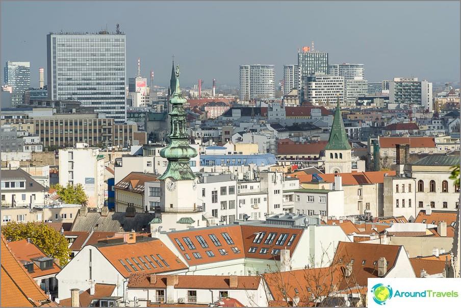 Снимка в Братислава отгоре