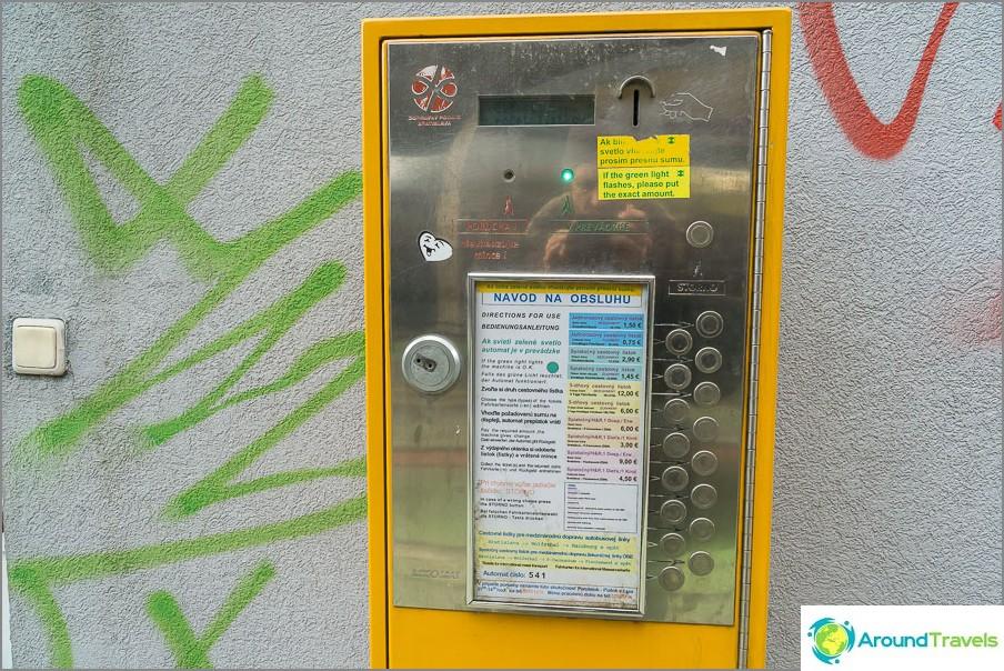 Автомати, продаващи транспортни билети
