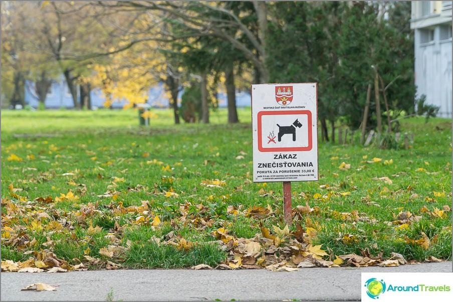 На кучетата е забранено да вършат работата си на тревата