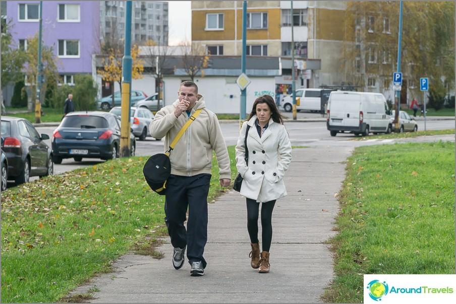 Хората в Братислава също ходят най-обикновените