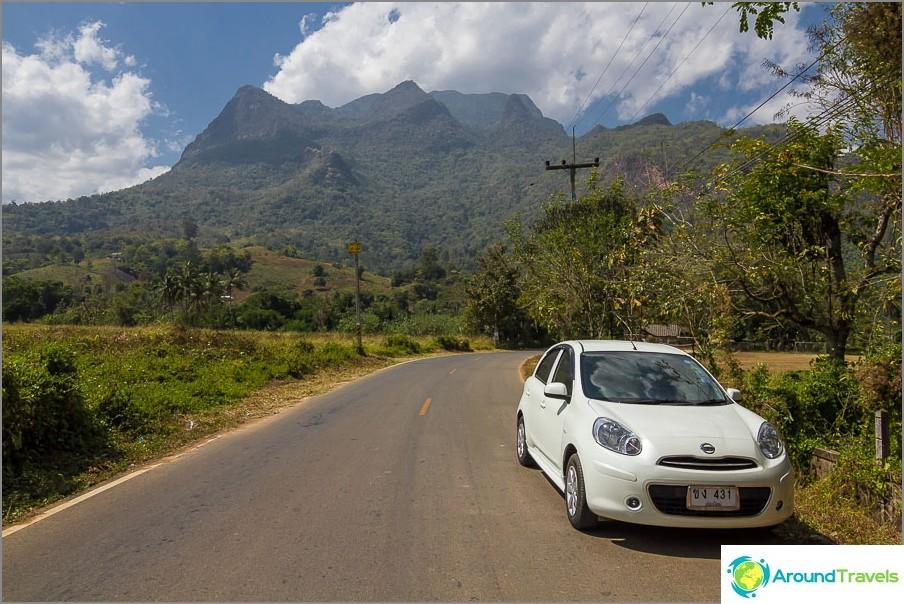 Chiang Daon vuorelle voi nähdä