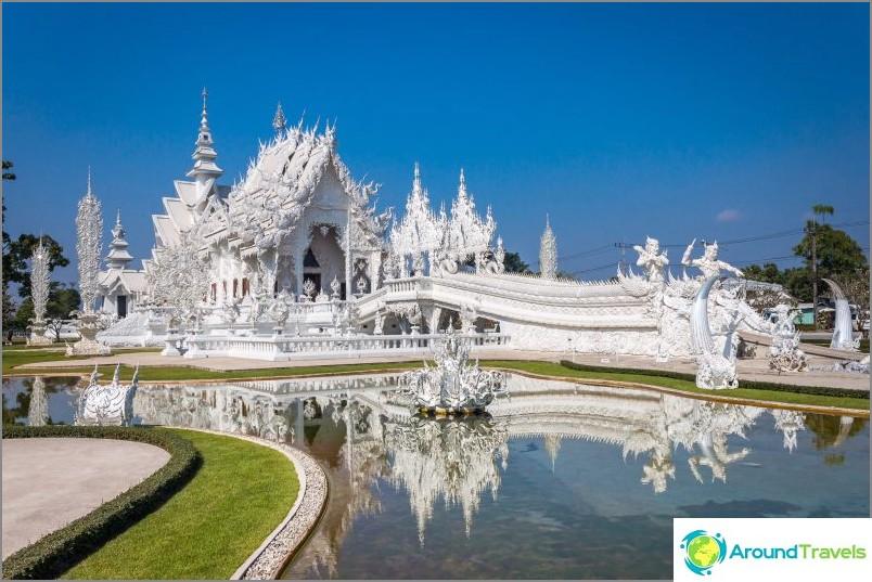 Valkoinen temppeli Thaimaassa (Wat Rong Khung)