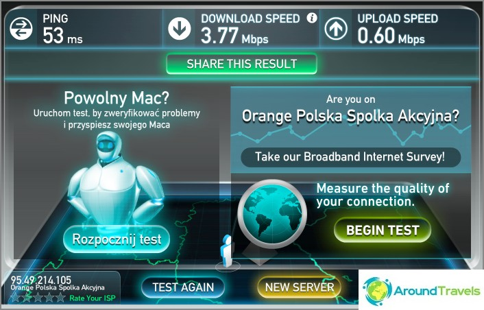 Wifi-nopeus on melko
