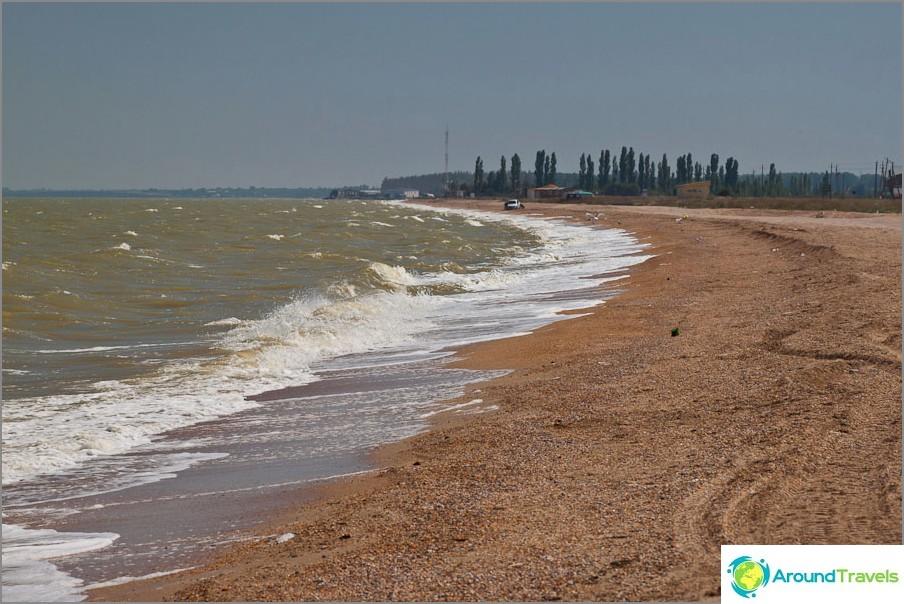 Taganrogin lahden ranta