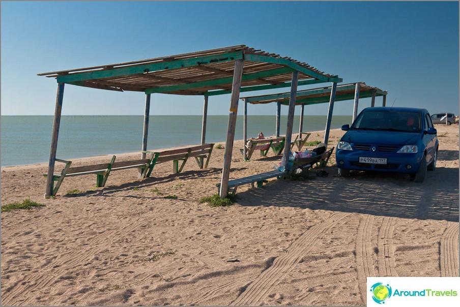 Vapaa paikka Azovin meren rannalla