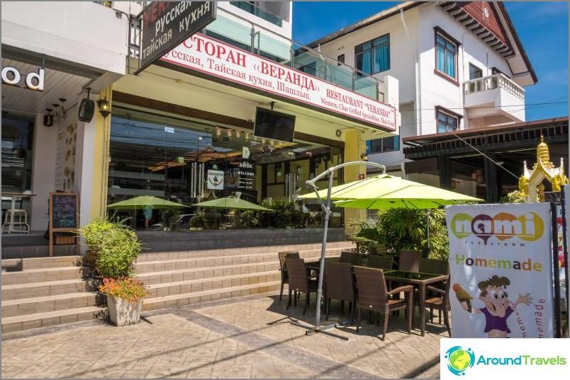 Venäläinen ravintola Veranda Phuketissa