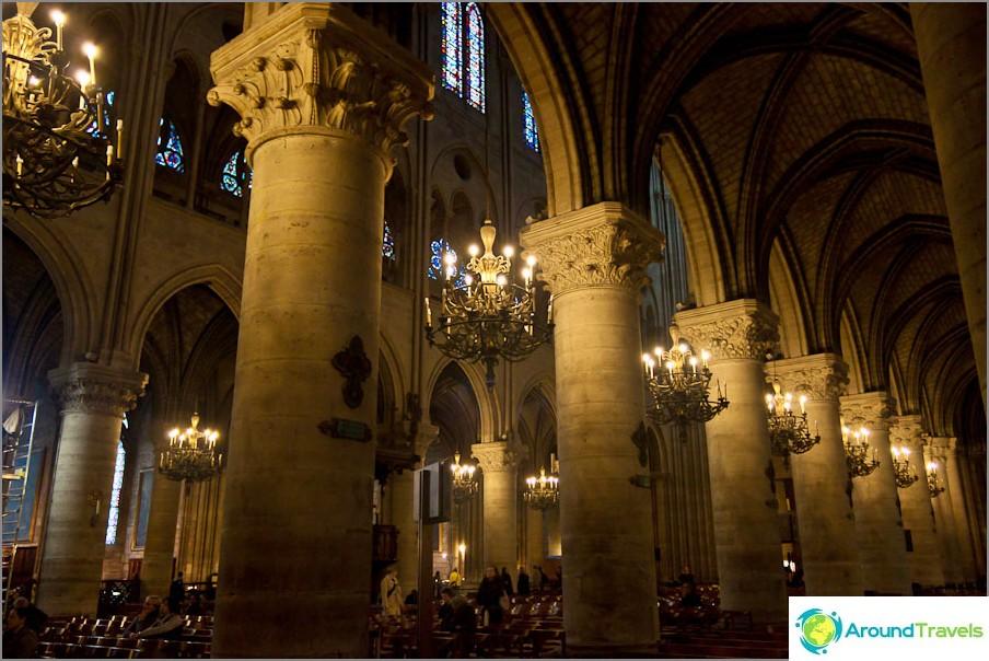 Notre-Dame de Paris sisällä