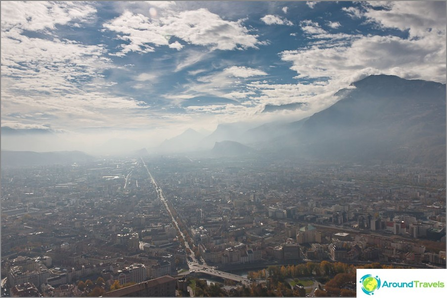 Grenoble Bastillen korkeudelta