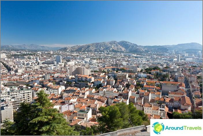 Marseillen kaupungin ilmakuva