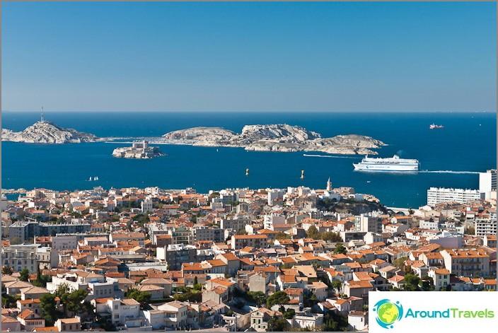 Marseillen kaupunki ja Välimeren rannikko