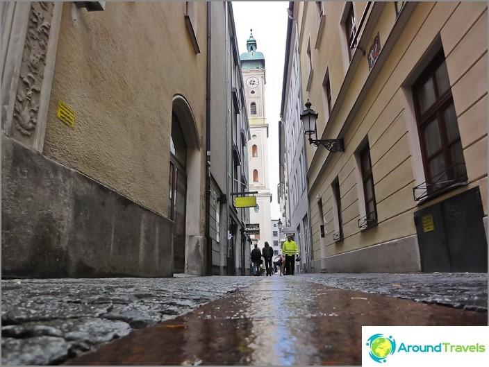 Улици в центъра на Мюнхен