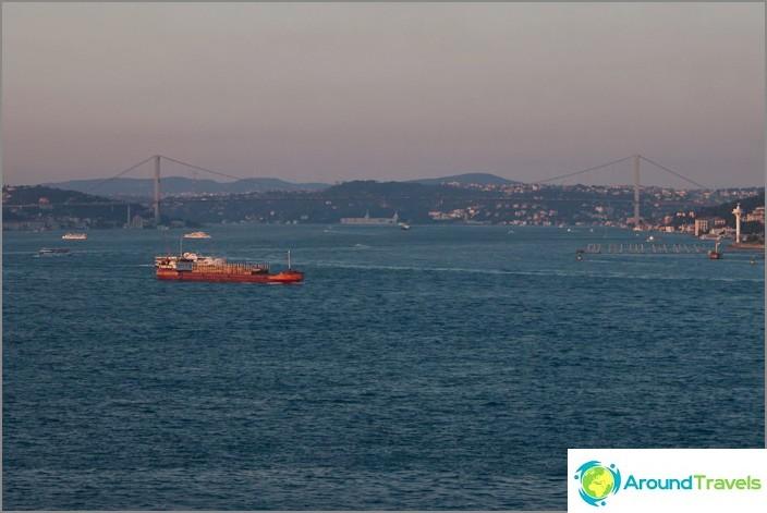 Залез на Босфора. Истанбул.