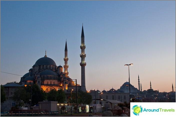 Вечерен Истанбул. Турция.