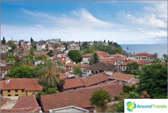 Старият град на Анталия. Турция.