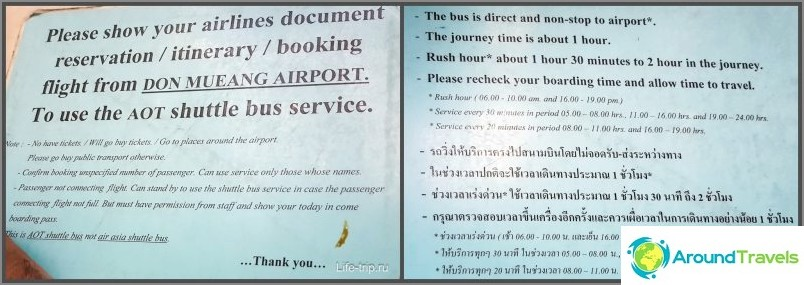Suvarnabhumin kuljetusussäännöt - Don Muang