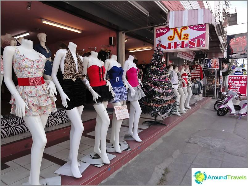 Типичен тайландски магазин за дрехи