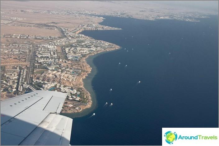 Египет. Шарм ел Шейх от самолета.