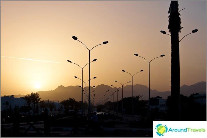 Залез в Шарм Ел Шейх. Египет.