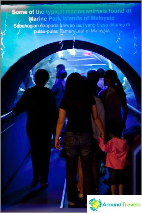 Sisäänkäynti 90 metrin tunneliin