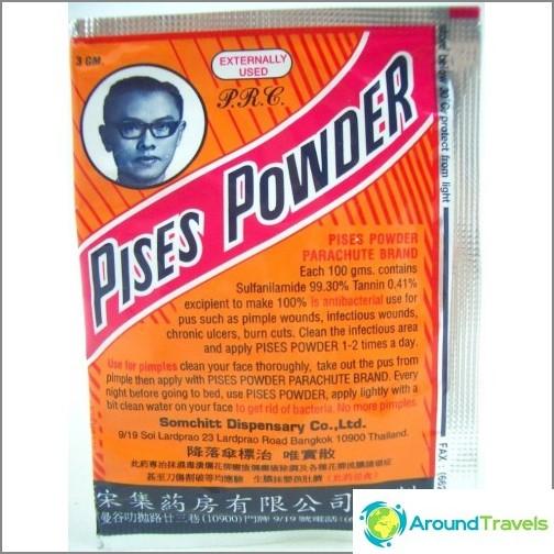 Pises Powder - Ett antiseptiskt pulver, till exempel streptocid