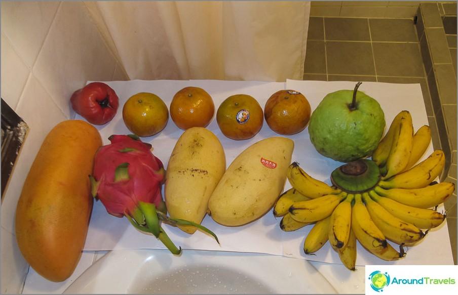 Thai-hedelmät