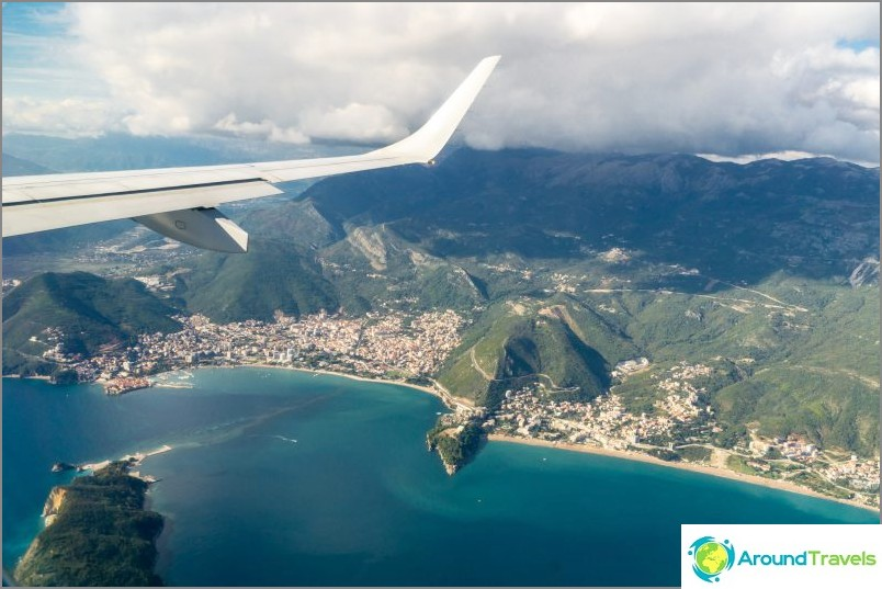 Montenegro lentokoneesta (Budva)