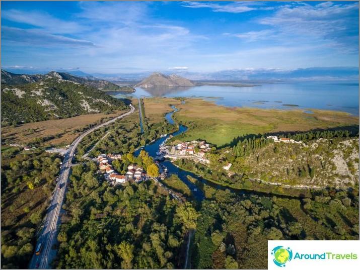 Skadar-järvi ja näkymä Virpazarille