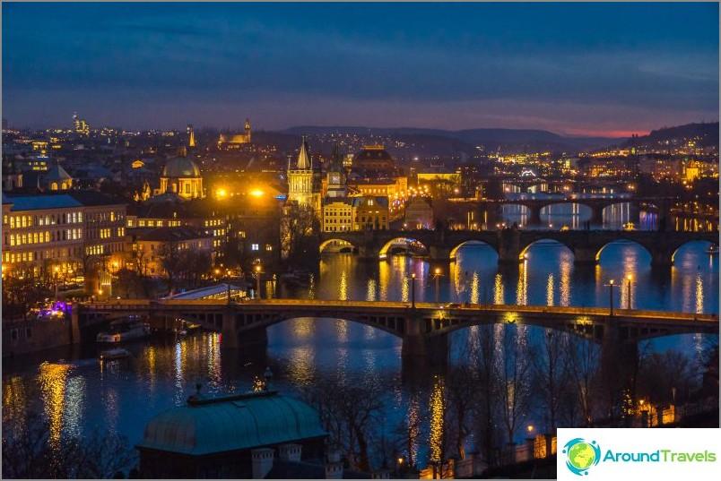 Erityisen kaunis ilta Praha