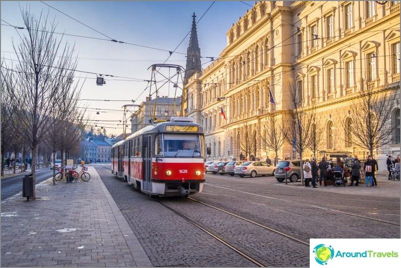 Alkuperäiset raitiovaunut kulkevat koko Tšekin tasavallassa, Brno ei ole poikkeus