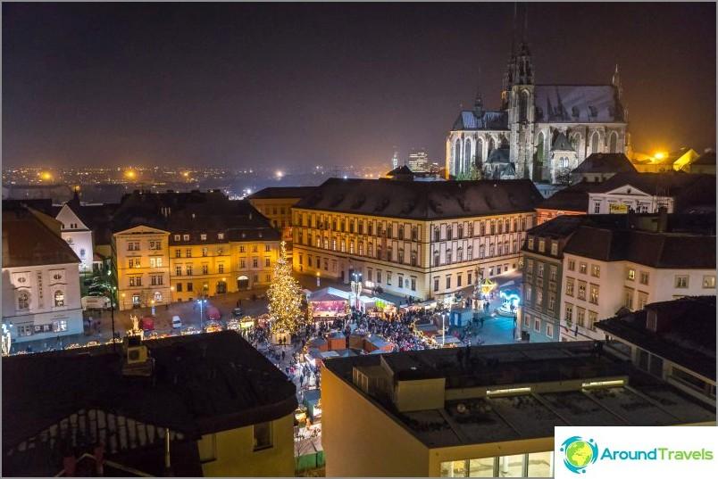 Brno-keskus ja joulumarkkinat