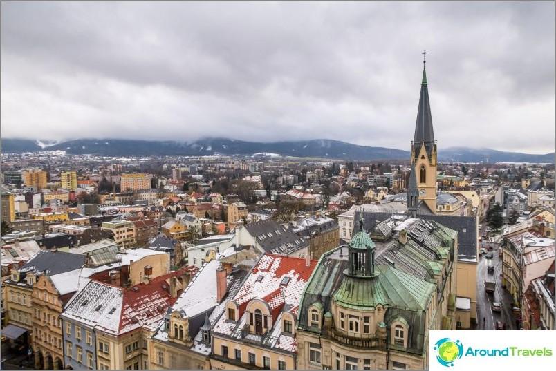 Liberec on pieni kaupunki, suurin osa siitä on kuvassa