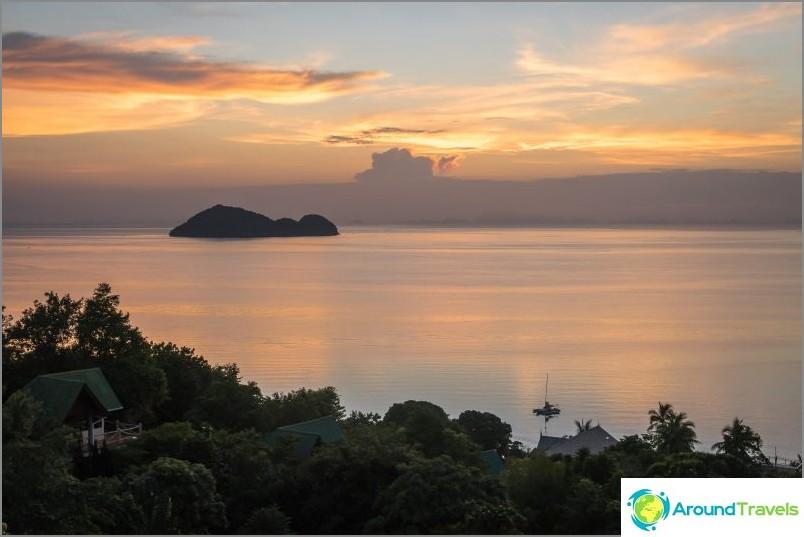 Yksi parhaimmista auringonlaskuista Koh Phanganissa