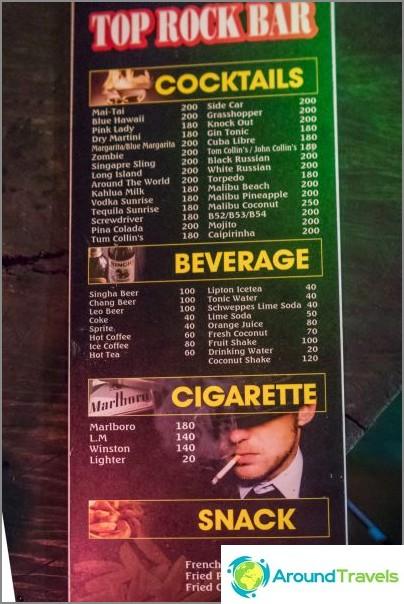 Suosituin rockbaari Koh Phanganissa - ei ollenkaan Amsterdamin baarissa
