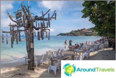 Vagga bar на Koh Phangan - кокосов шейк с гледка към морето