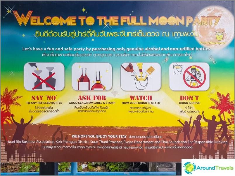 Juliste Full Moon Party at Phangan