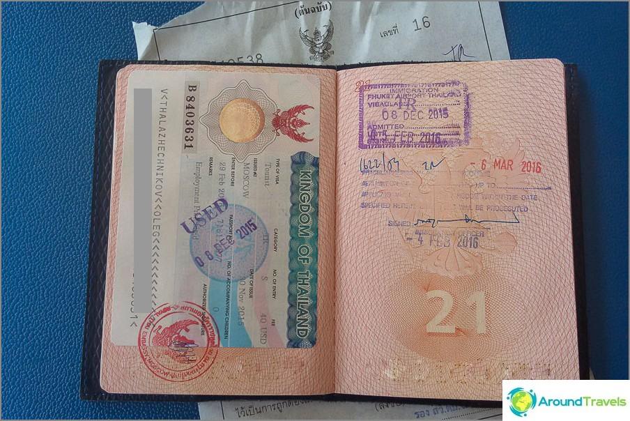Thaimaan viisumin jatkamisen rasitus