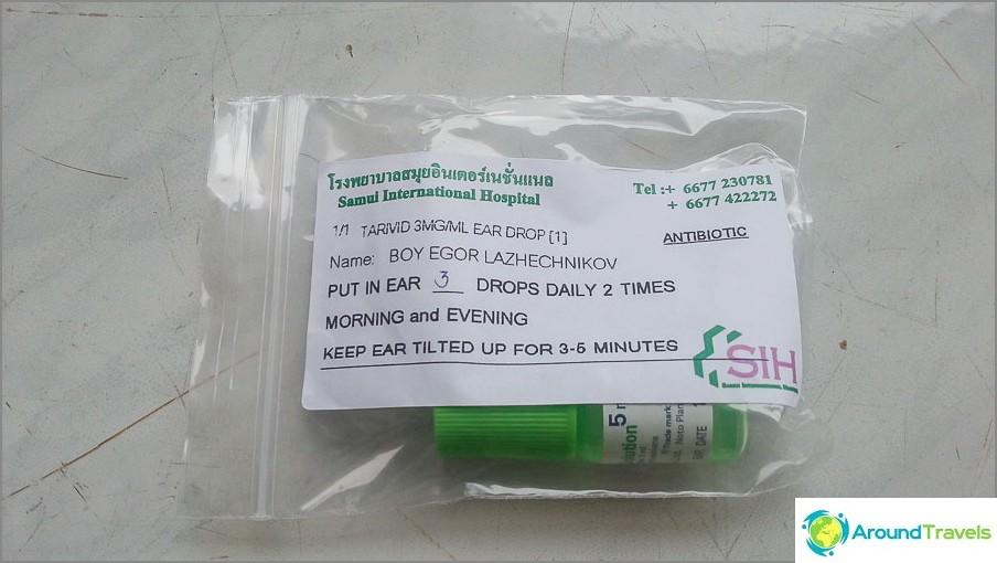 Pisarat annosteltiin sairaalan apteekissa