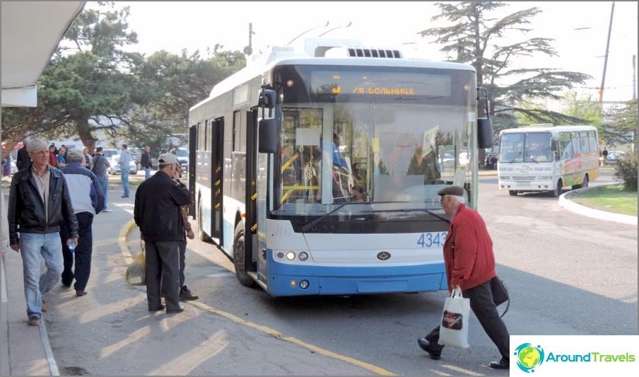 Bussit Simferopolin lentokentältä