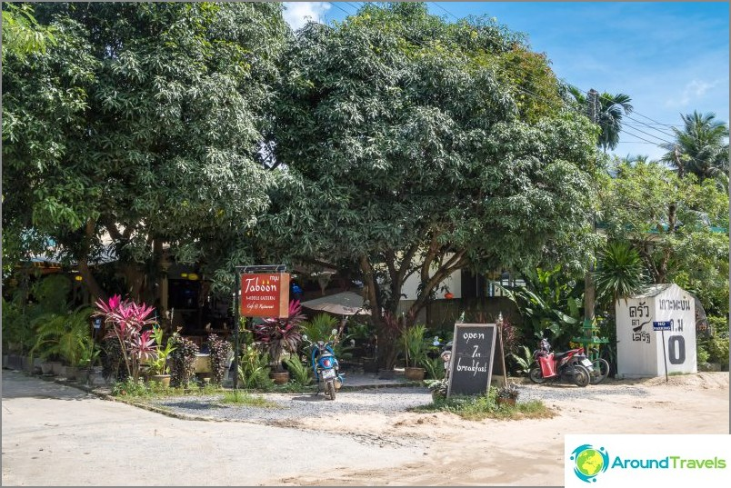 Kasvisruokaravintola Taboon Koh Phanganilla