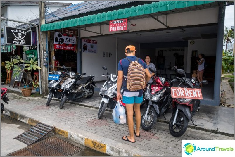 Vuokrata pyörä Koh Phanganissa, missä tarkalleen kasvatetaan